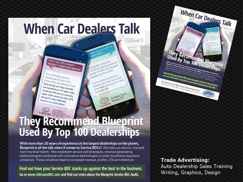 Auto Sales Training Ad