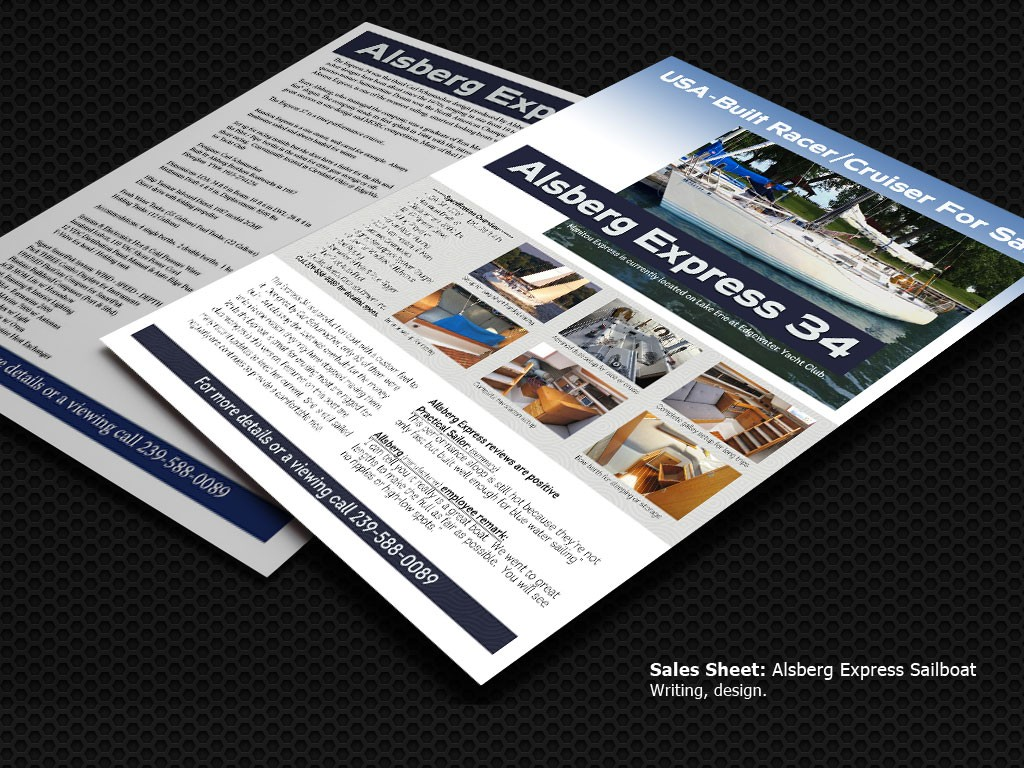 Sailboat sell sheet General Marketing Service