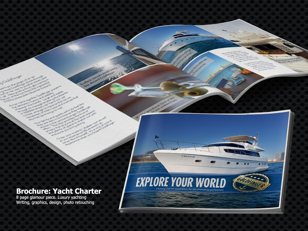 Yacht Charter Brochure from General Marketing Service