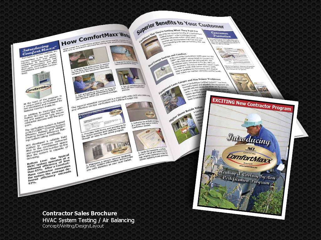 HVAC Air Balancing Marketing Brochure